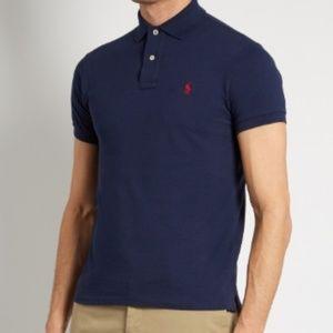 Polo Ralph Lauren Slim-Fit Cotton-Piqué Shirt Navy